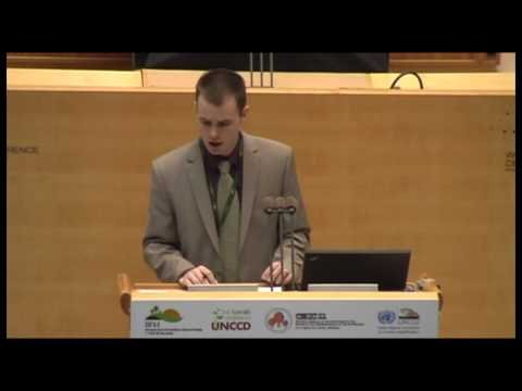 Nicolas Gerber (ZEF) at the UNCCD 2nd Scientific Conference
